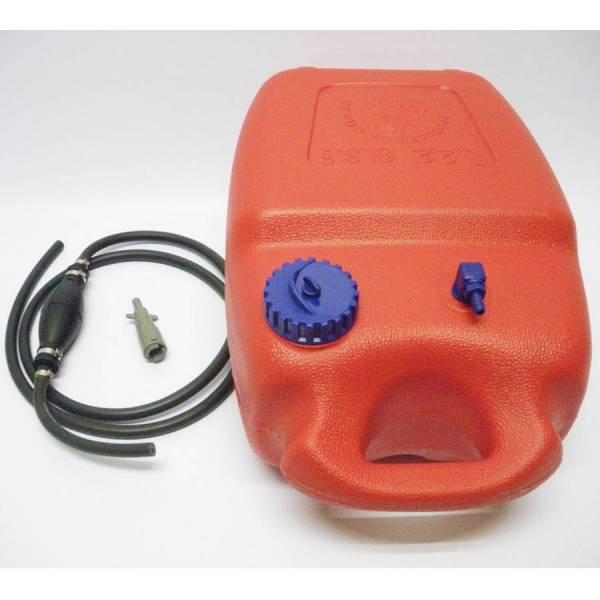 Benzintank 12 Liter + Pumpball + Buchse Anschluss Mercury Motor Tank Zusatztank Bild 1