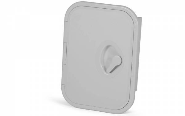 Ablagefach MID LINE 278 x 378 mm mit Klappe Kunststoff Weiß Bild 1