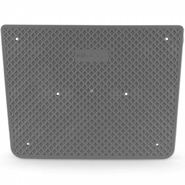 Heckschutzplatte 300 x 220 mm Kunststoff Trapezförmig Grau Bild 1