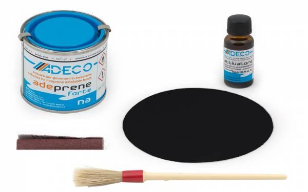 Schlauchboot-Reparatur-Set mit 2-K-Kleber für Neopren + Flicken Schwarz Bild 1