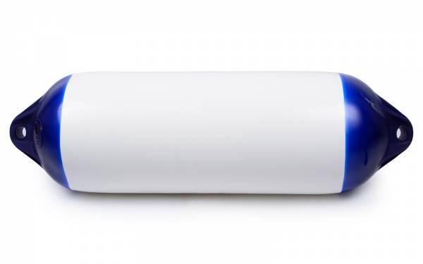 Ocean Fender Bootsfender ∅ 280 x 1090 mm H9 aufblasbar mit Ventil Weiß Blau Bild 1
