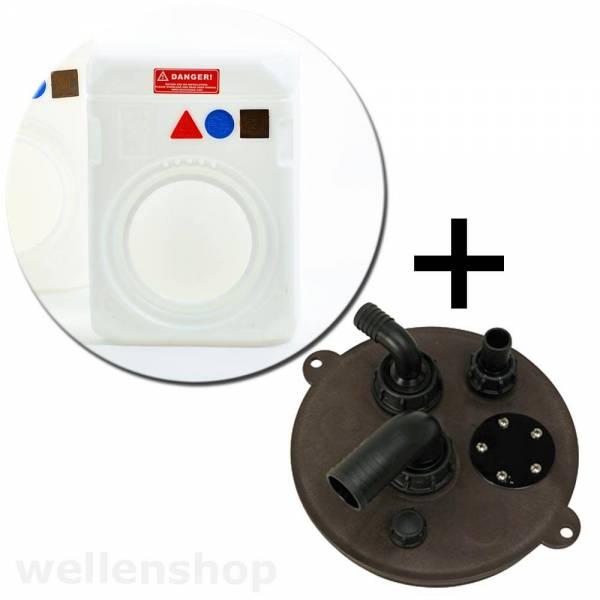 Tank 108 Liter mit Abwasser Verschluss Abwassertank Kunststoff weiß Bild 1