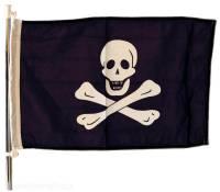 Flagge Pirat 30 x 45 cm Polyester UV-beständig