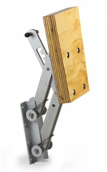 Motorhalter bis 15 PS 4 Positionen verstellbar Aluminium / Holz / Edelstahl Bild 1