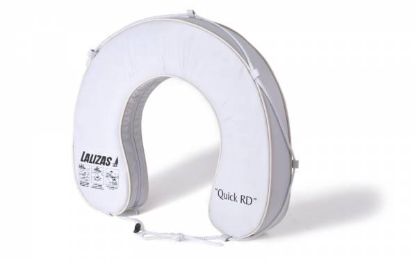 Hufeisen-Rettungsring mit Griffleine Auftrieb 145N Polyester weiß Bild 1
