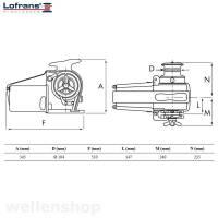 Lofrans Ankerwinde Falkon Ø12mm ISO Kette mit Spill 1700 W 12 V bild 3