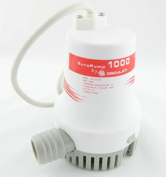 Osculati Bilgenpumpe Wasserpumpe 12V 3840 l/h bild 1