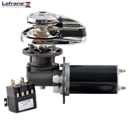 Lofrans X1 Ankerwinde vertikal Ø 6 mm Kette ohne Spill Aluminium 500W 12V