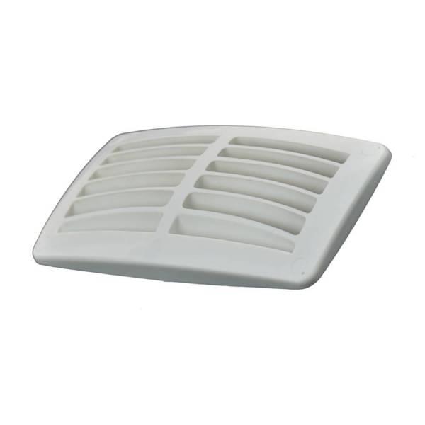 Lüftungsgitter Kunststoff Weiß doppelt 95 x 179 mm Bild 1