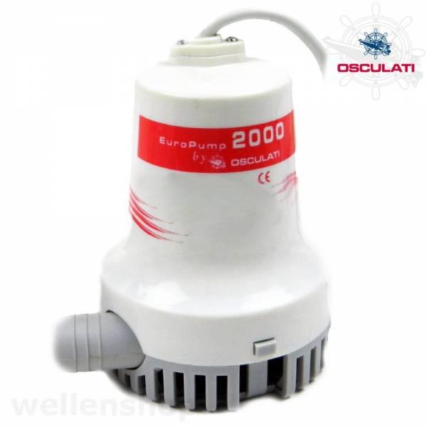 Osculati Bilgenpumpe Wasserpumpe 24V 7700 l/h bild 1