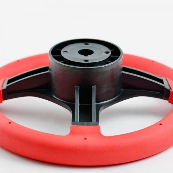 Steuerrad / Bootslenkrad 3 Speichen Ø 280 mm Kunststoff Rot Bild 2