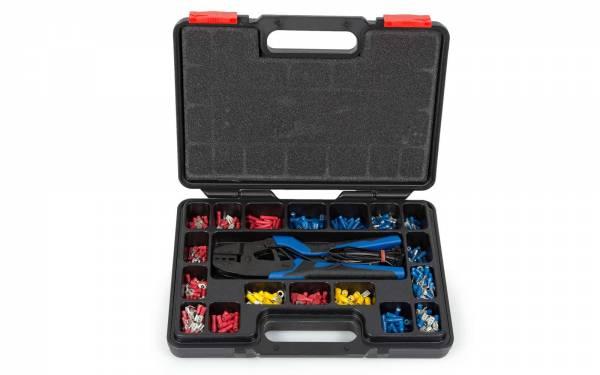 Kabelschuh-Sortiment 300-teilig mit Crimpzange, Isolierband, Kabelbinder