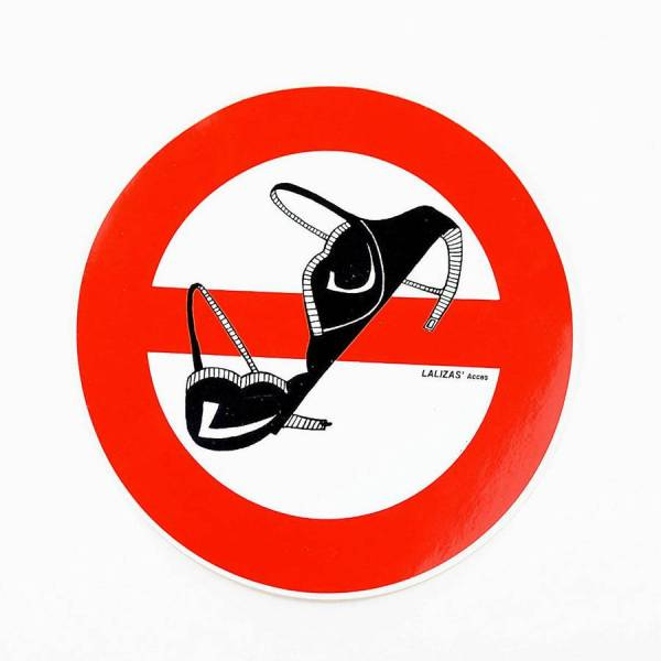 Aufkleber BH verboten Bild 1