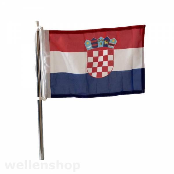 Flagge Kroatien 20 x 30 cm Polyester UV-beständig Bild 1