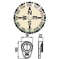 Riviera Peilkompass Bootskompass Kompass Handkompass Schwarz Bild 2