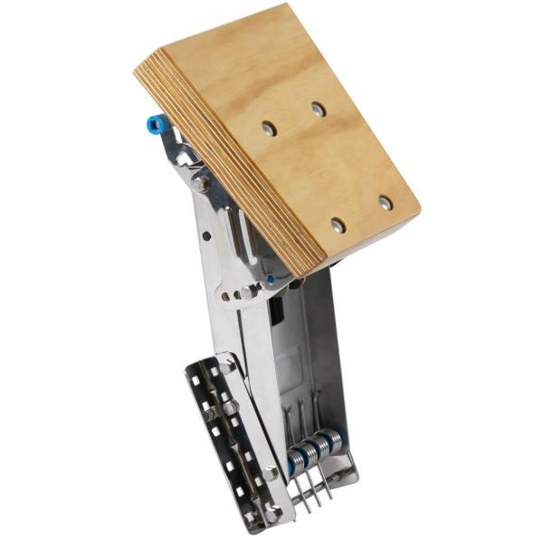 Motorhalter für Außenborder bis 25 PS 4 Positionen Edelstahl Holz Bild 1