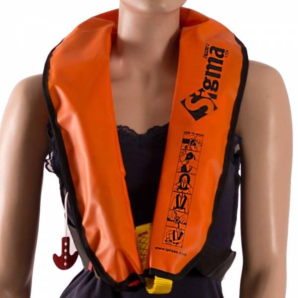 Rettungsweste Lalizas Sigma 170N manuelle & automatische Auslösung orange ab 40kg Bild 1