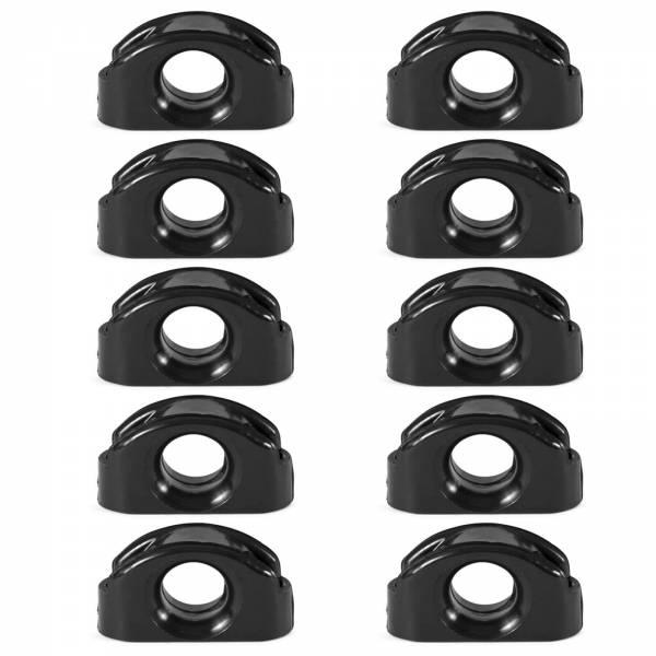 10x Leitöse für Segelboot Kunststoff Schwarz Bild 1