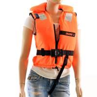 Kinder Feststoff-Rettungsweste 100 N 3 - 20 kg Orange Ohnmachtssicher