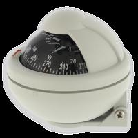 Riviera Kompass Aufbaukompass schwenkbar weiß 5 grad Bootskompass öl gelagert