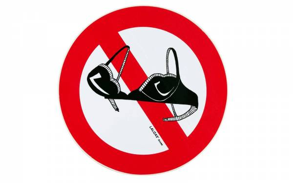 BH Verboten Aufkleber Kunststoff Bild 1
