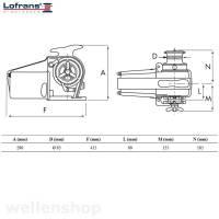 Lofrans Ankerwinde Tigres horizontal 10 mm DIN Kette mit Spill 1500W 24V Bild 3