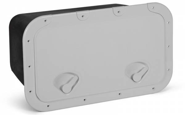 Ablagefach CLASSIC mit Klappe 355 x 600 mm Weiß / Schwarz Bild 1
