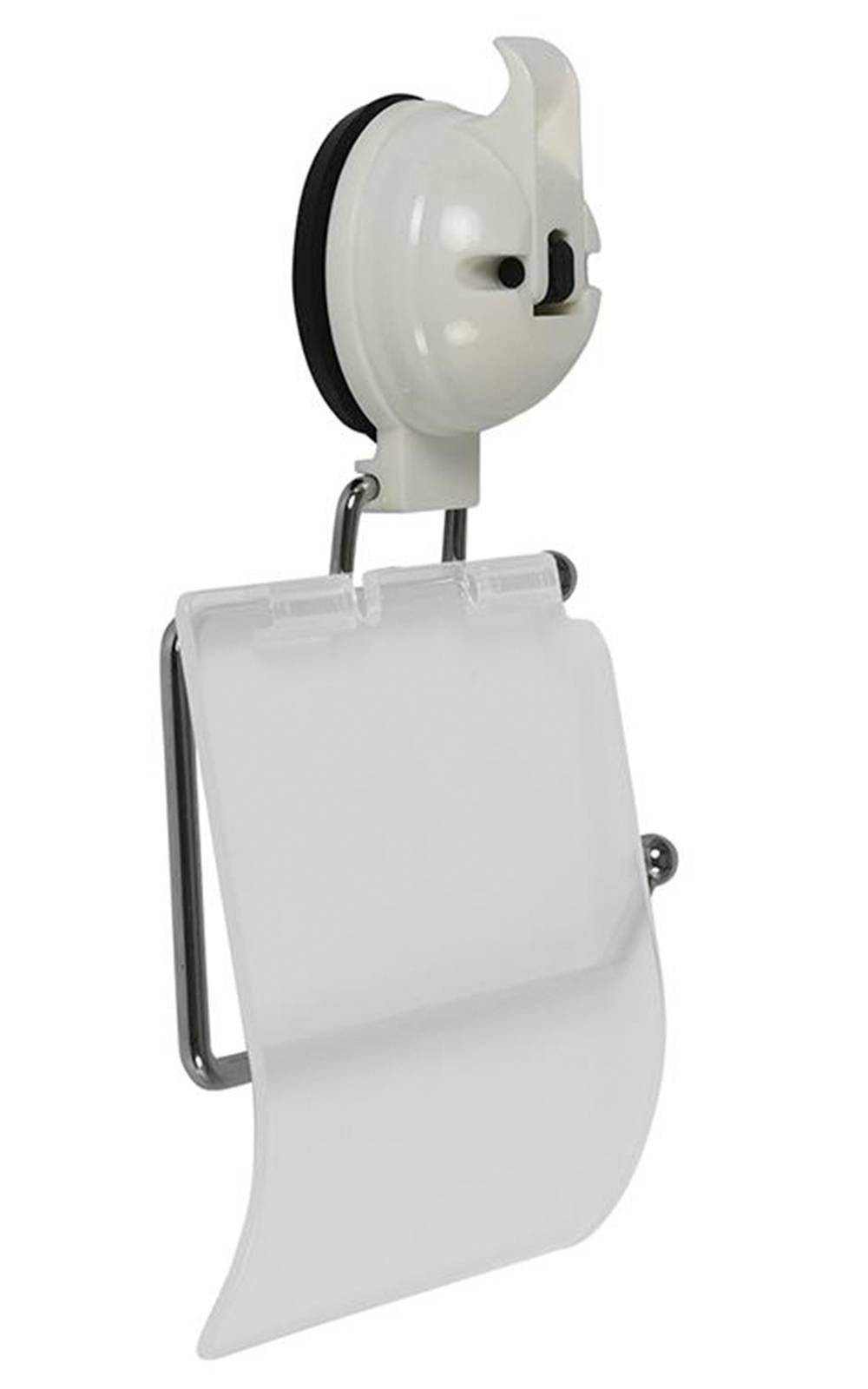 toilettenpapierhalter mit saugnapf edelstahl kunststoff. Black Bedroom Furniture Sets. Home Design Ideas