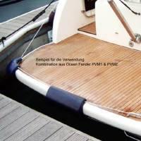 Ocean Eckfender 43 x 24 x 25 cm navyblau Kunststoff Bild 3