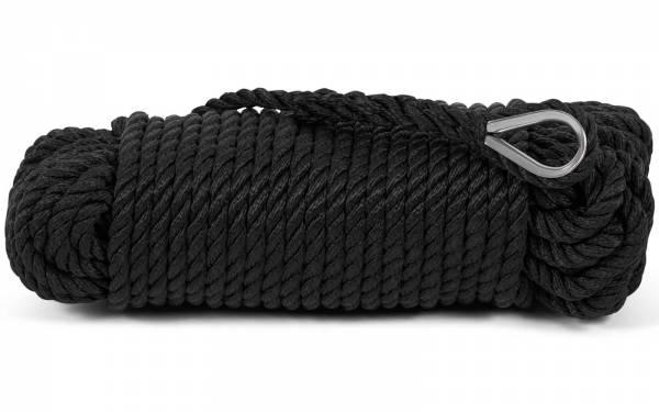 Ankerleine schwarz mit Kausch 10mm x 30m Ankerwinden geeignet Bild 1