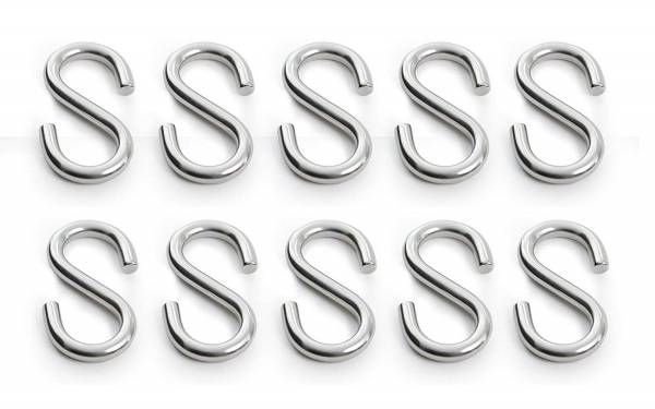 10 Stück S-Haken Edelstahl Durchmesser 8 mm