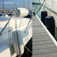 Ocean Relingfender Clip-On Bootsfender 46 cm Navyblau Bild 5