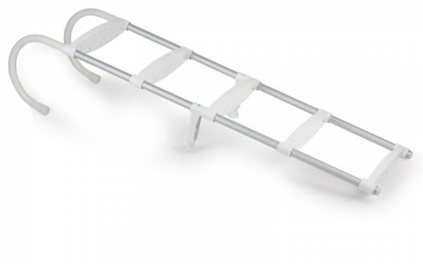 Bootsleiter / Badeleiter 5 Stufen Aluminium Kunststoff weiß Bild 1